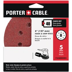 Porter Cable - 5 HL AO 8 hole 40g disc 5 pack - 735800405