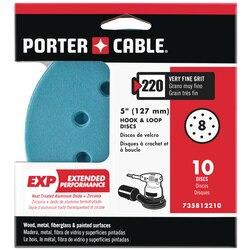 Porter Cable - 5 HL EXP 8 hole 220g disc 10 pack - 735812210