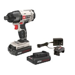 Porter Cable - 20V MAX Cordless  in Hex Head Compact Impact Driver Kit - PCC641LB