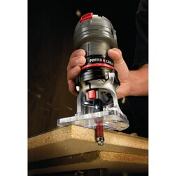 Porter Cable - 56 Amp VariableSpeed 14 in Laminate Trimmer - PCE6435