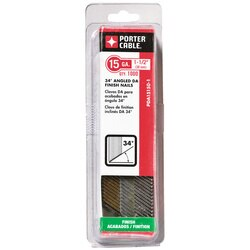 Porter Cable - 112 in 15 Ga DA Angled Finish Nails 1000 Count - PDA15150-1