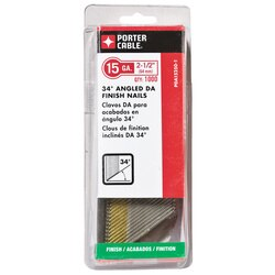 Porter Cable - 212 in 15 Ga DA Angled Finish Nails 1000 Count - PDA15250-1